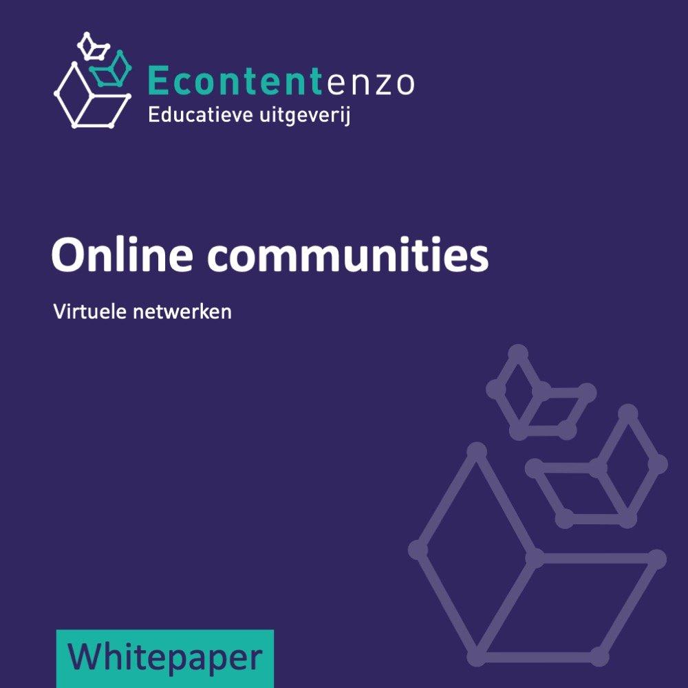 Overzichtsartikel van online communities en virtuele netwerken