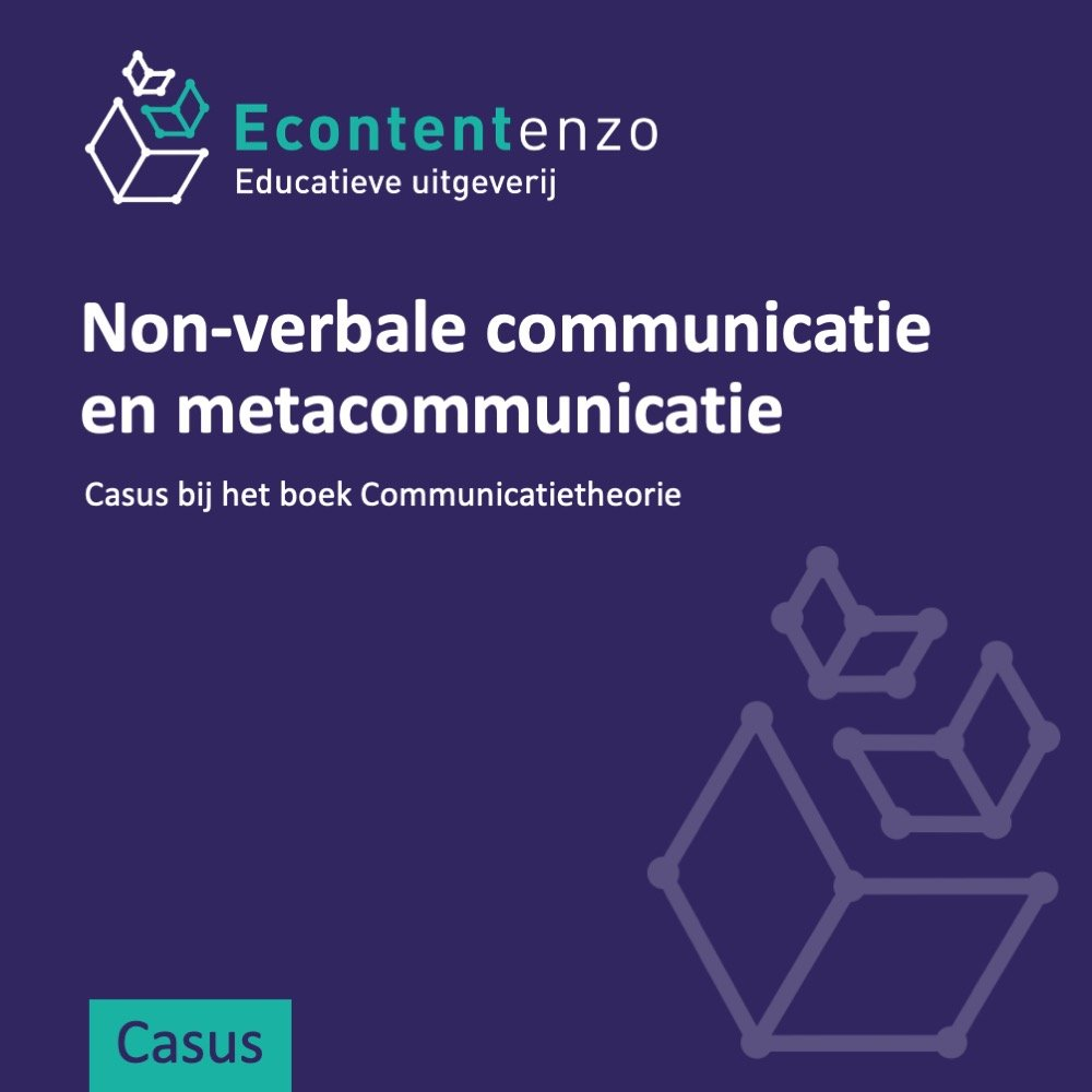 Casus waarin non-verbale communicatie en metacommunicatie worden toegepast